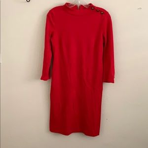 Talbots red 3/4 length dress